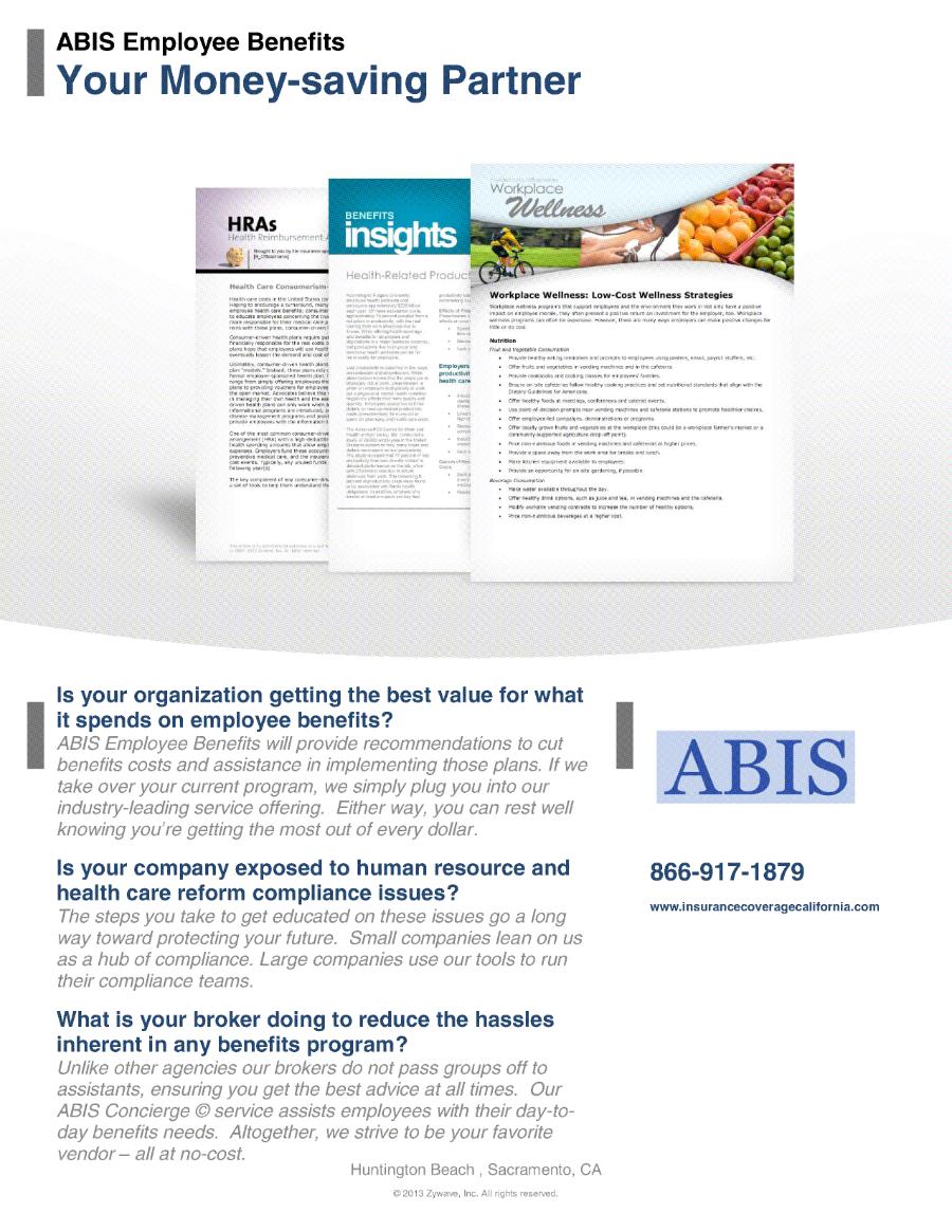 ABIS Employee Benefits - Your Money Saving Partner 900px